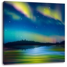Northern Lights in Alaska Art Print on Canvas East Urban Home Size: H x W Aurora Borealis, Alaska, The Big Year, Canvas Art, Canvas Prints, Painting Prints, Art Print, Wassily Kandinsky, Leonid Afremov Paintings
