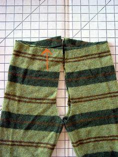 Hosen aus alten pullovern