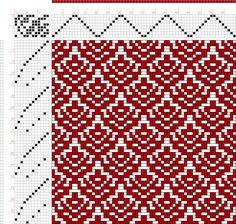 Проект изображения: Страница 130, рис 20, Донат, Франц Большая книга Текстильные Patterns, 8S, 12T