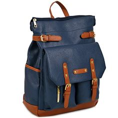 Copi Multipurpose easy fit Modern Design Deluxe Fashion Backpacks One Size Navy *** You can get more details by clicking on the image.