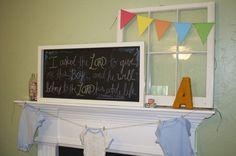 alphabet/ books baby shower