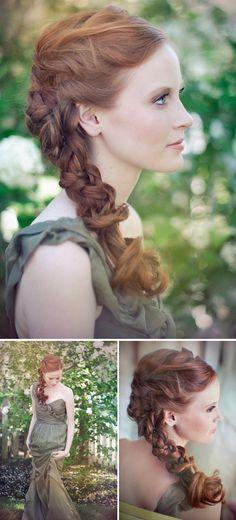 Beautiful romantic braid.