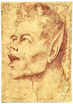 Jusepe de Ribera 1591–1652  /   study drawing  /  Satyr