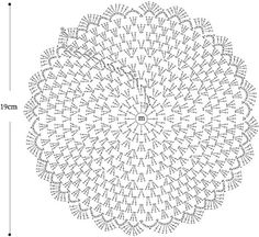 """doily pattern """"Needles and Brushes: Sousplat crochet"""", """"Crochet diagram only"""", """"Captured with Lightshot"""" Crochet Circles, Crochet Doily Patterns, Crochet Diagram, Crochet Round, Crochet Chart, Crochet Squares, Crochet Home, Thread Crochet, Crochet Granny"""