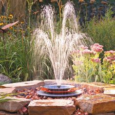 This soothing fountain can be built in an afternoon and it's inexpensive. simple to build and a great place for the neighborhood birds to freshen up! Diy Water Fountain, Garden Water Fountains, Outdoor Fountains, Rock Fountain, Fountain Ideas, Water Gardens, Small Gardens, Ponds Backyard, Backyard Landscaping