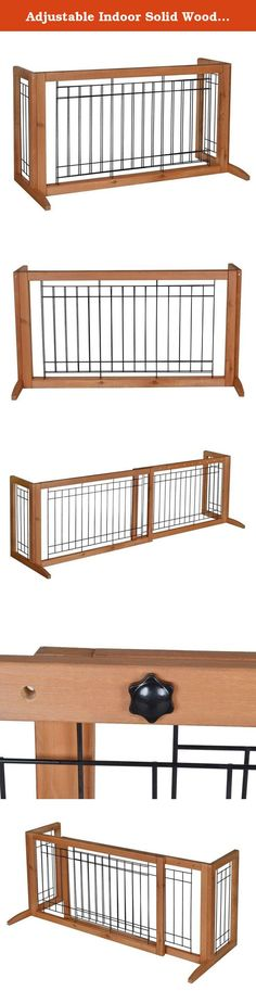 """Adjustable Indoor Solid Wood Construction Pet Fence Gate Free Standing Dog Gate. This gate features a beautiful hardwood construction which works for doors, hallways and double-door entries within 71"""". Great for Beagles, Bulldogs, Cockers, Spaniels, Lhasa Apsos, Miniature Poodles and similar sized dogs. It expands from 40"""" to 71"""" for larger doors and hallways. Package Includes: 1 x Chinese Fir Adjustable Dog Gate 1 x Instructions Manual."""