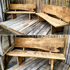 The days must be getting warmer with all this outdoor furniture being built. Timber Outdoor Furniture, Rustic Outdoor Benches, Outdoor Seating, Outdoor Decor, Custom Made Furniture, Rustic Interiors, Indoor, Bench Seat, Table