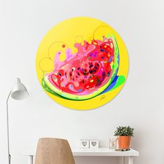 Discover «watermelon», Exclusive Edition Disk Print by M.ORE - From $85 - Curioos