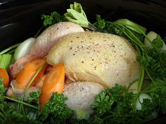 Jenny Eatwell's Rhubarb & Ginger: Chicken ready to be cooked in the slow cooker.