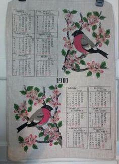 Kalenteripyyhe 1981