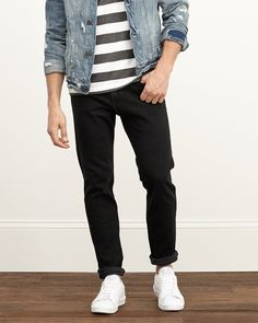 Mens A&F Super Skinny Zip Fly Jeans | Mens Bottoms | Abercrombie.com
