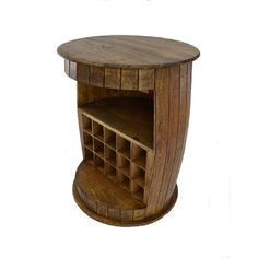 Bourbon Barrel Table, Whiskey Barrel Furniture, Wine Barrel Table, Wine Barrels, Barrel Projects, Wooden Pallet Projects, Old Wood, Mini, Outdoor Bars