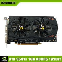 Nouvelle Arrivée Jeu Carte Graphique Geforce GTX 550Ti Vidéo Carte GDDR5 1G 192Bit Place De Support de la Carte Vidéo PC Jeu Full HD 1080 P