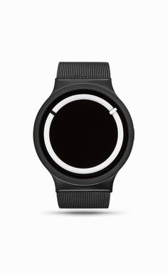 Eclipse Watch in Metallic Black by ZIIIRO | From Clockwize.uk