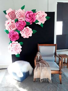 Wedding diy photo booth decor 65 ideas for 2019 Diy Gifts For Mothers, Mothers Day Decor, Kids Gifts, Craft Gifts, Diy Photo Booth, Photo Booth Backdrop, Photo Booths, Backdrop Ideas, Paper Flower Backdrop