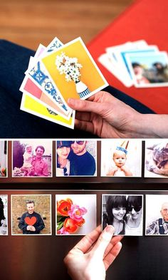 Diy Crafts Ideas : Make lovely square magnets with your favorite photos!