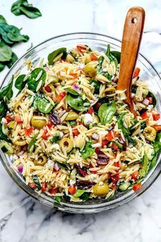 Healthy Salad Recipes, Vegetarian Recipes, Cooking Recipes, Orzo Salad Recipes, Meat Recipes, Cooking Blogs, Cooking Games, Cooking Food, Party Recipes