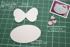 _DSC4422 Verpackung Hello Kitty Punch Art Stampin Up Eulenstanze Extragroßes Oval Dekoratives Etikett