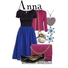 Anna (Outfits by DisneyThis-DisneyThat @Polyvore) #Frozen