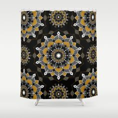#showercurtain #shower #curtains #bathroom #mandala #mandalas #black #gold #zen #pattern #spiritual #spirituality #bohemian #meditation #meditate
