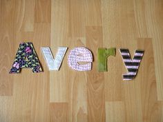 Fabric Letters In Your Child's Name by YouAreWorthMore on Etsy, $1.50