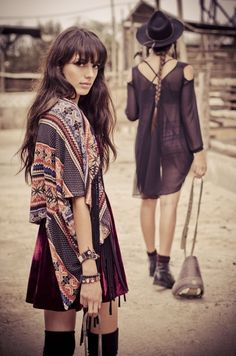 Love how they used velour with boho vibe. Incorporate art deco jewelry...?