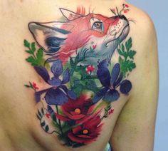 Nice Colorful Animal Tattoos (16 pics)