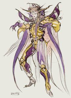 Week 2 - Final Fantasy II - Concept Art Monday - Emporer Palamecia ffcompendium.com