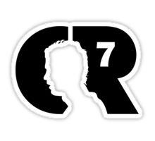 CR7 logo black Sticker