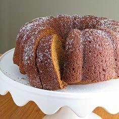 Pumpkin Bundt Cake - takes less than 10 minutes to make using simple pantry ingredients!