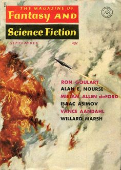 scificovers: The Magazine of Fantasy and Science Fiction September 1964. Cover by Mel Hunter.