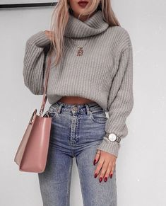 60 Trendy And Fashionable Fall Outfits You Should Try This Year - Page 18 of 60 - Chic Hostess Casual Winter Outfits for Women, Trendy outfits, Casual Outfits # .Casual Winter Outfits for Women, Winter Outfits 2019, Winter Outfits Women, Winter Fashion Outfits, Look Fashion, Fall Fashion, Fashion Trends, Winter Outfits Tumblr, High Fashion, Womens Fashion