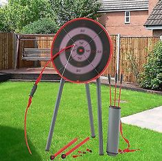 Garden Archery SET Game Outdoor FUN BOW Arrows Target Blow Pipe Darts Party | eBay