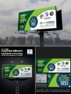 Corporate Billboard Sinage Template Psd
