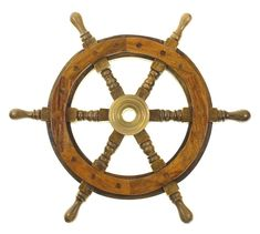 "Amazon.com - 12"" Wood Ship Wheel - Pirate Shipwheel - Nautical Decor - Nautical Bathroom Decor"