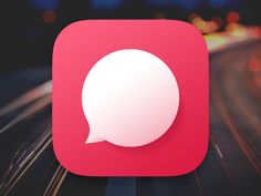 Chat Bubble App Icon by Ray
