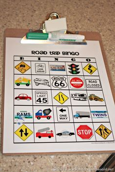 Road Trip Bingo. Good thing for the passengers
