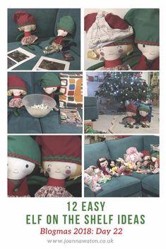 12 Easy Elf on the Shelf ideas
