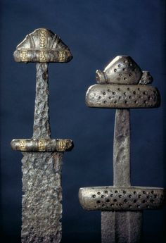 A pair of Viking Age swords from Norway. Photo Eirik Irgens Johnsen and via http://www.khm.uio.no/om/tjenester/foto/presse/bilder-yngre-jern...