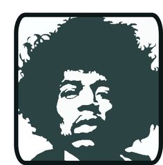Jimi Hendrix DXF file for CNC plasma laser or by ArcInnovations