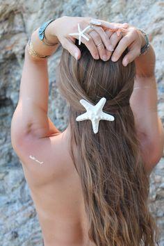 Knobby Starfish Barrette by PoppyCoast on Etsy