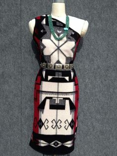 Love the colors and design of the beautiful navajo dress