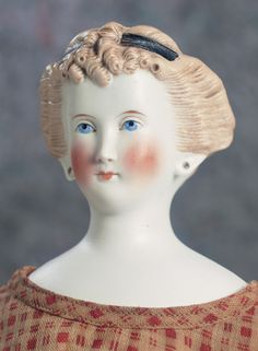 Lady Dolls of the Century: 16 German Bisque Lady with Head Bands Antique Dolls, Vintage Dolls, China Dolls, Head Bands, Doll Head, Blondes, 19th Century, Doll Clothes, Little Girls