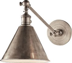 Visual Comfort Boston Functional Library Wall Light in Antique Nickel
