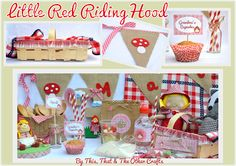 This, That and The Other Crafts: LITTLE RED RIDING HOOD BIRTHDAY PARTY --- FIESTA DE CUMPLEAÑOS DE CAPERUCITA ROJA.