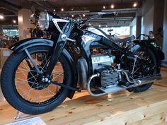 A 1938 Zundapp K800 at the Barber Vintage Motorsports Museum.