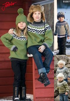 Warming sweaters made of Icelandic wool. gebreid in 2011 Knitting For Kids, Free Knitting, Baby Knitting, Knit Baby Sweaters, Boys Sweaters, Icelandic Sweaters, Kids Coats, Fair Isle Knitting, Sweater Making