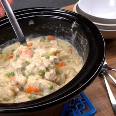 Chicken and dumplings have a history as rich as our recipe's gravy. Plus, our canned biscuit dough hack makes it easy to serve up this classic comfort food.