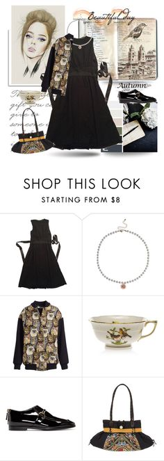 """August 19"" by anny951 ❤ liked on Polyvore featuring Dice Kayek, Dorothy Perkins, STELLA McCARTNEY, Herend and NOVICA"