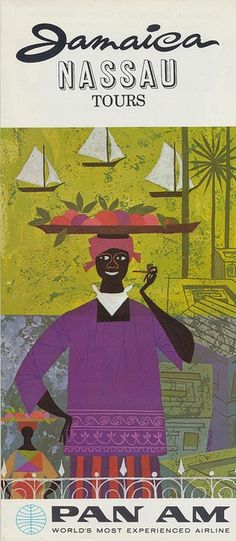 Jamaica vintage travel poster –Find travel stories on anekdotique.com